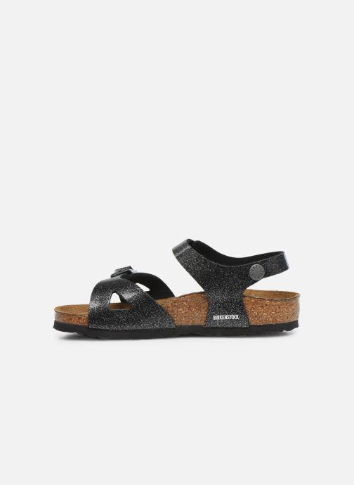 Sandali e scarpe aperte Birkenstock Rio Plain Birko Flor Argento immagine frontale