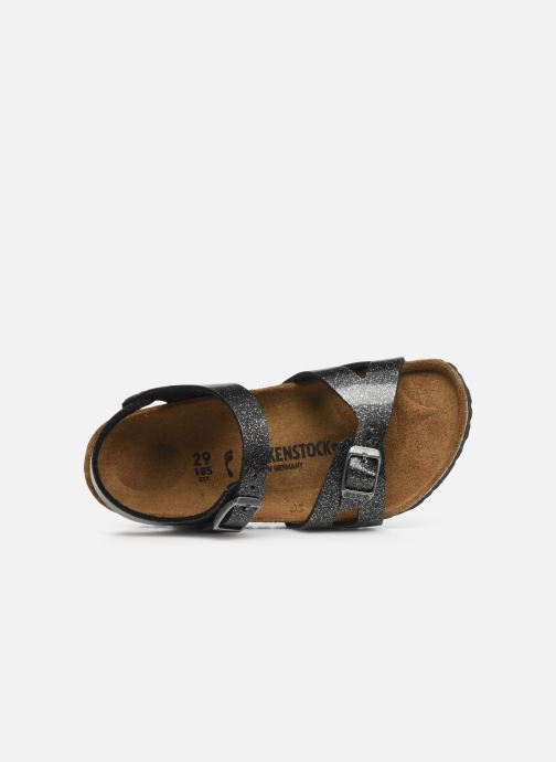 Sandali e scarpe aperte Birkenstock Rio Plain Birko Flor Argento immagine sinistra