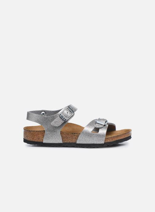 Sandali e scarpe aperte Birkenstock Rio Birko Flor Argento immagine posteriore