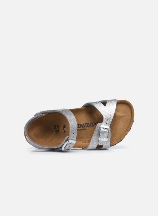 Sandali e scarpe aperte Birkenstock Rio Birko Flor Argento immagine sinistra