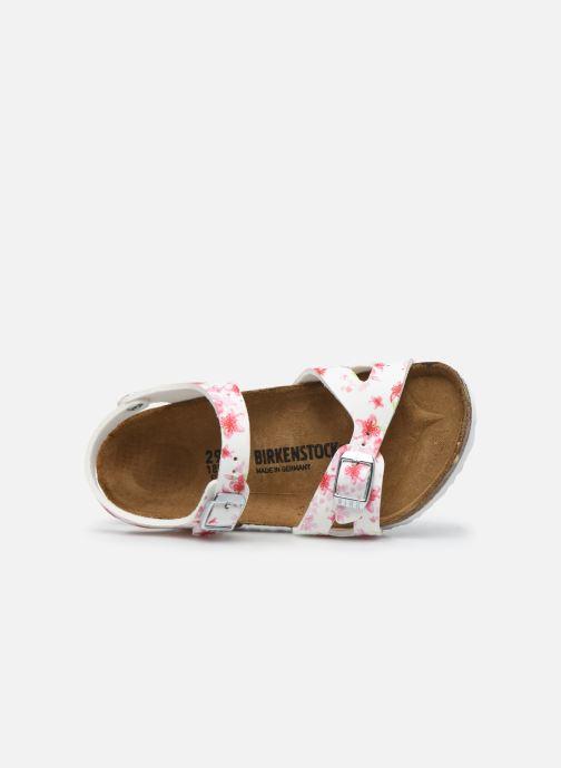 Sandales et nu-pieds Birkenstock Rio Plain Birko Flor Blanc vue gauche