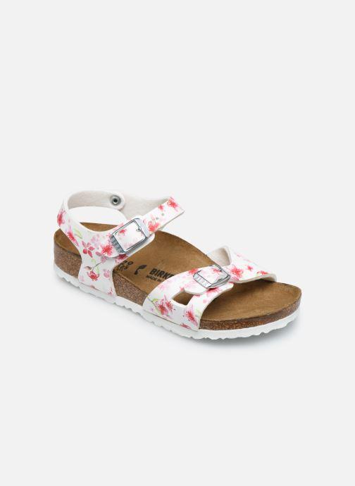 Sandales et nu-pieds Birkenstock Rio Plain Birko Flor Blanc vue détail/paire