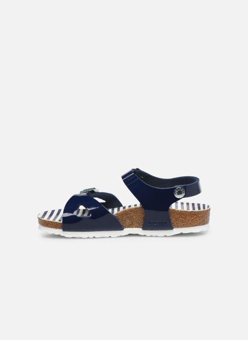 Sandali e scarpe aperte Birkenstock Rio Birko Flor Azzurro immagine frontale
