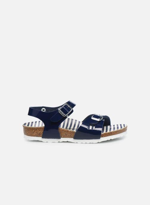 Sandali e scarpe aperte Birkenstock Rio Plain Birko Flor Azzurro immagine posteriore