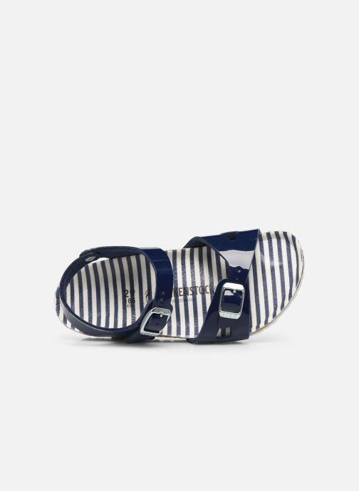 Sandali e scarpe aperte Birkenstock Rio Plain Birko Flor Azzurro immagine sinistra