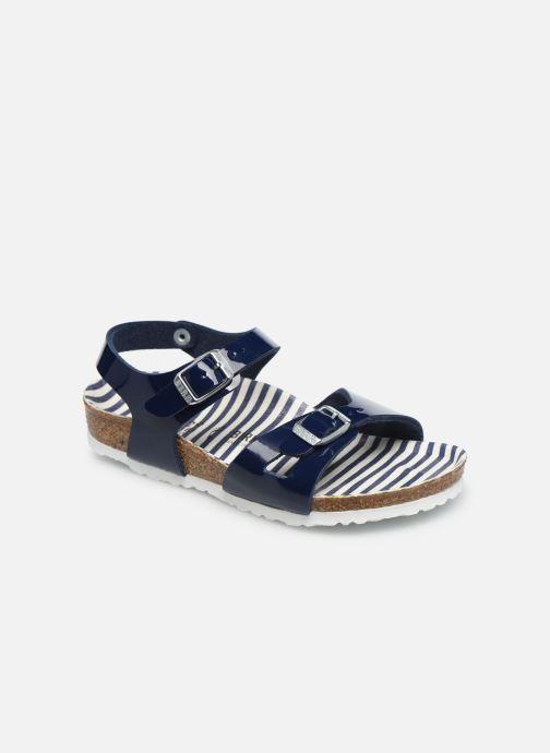 Sandali e scarpe aperte Birkenstock Rio Birko Flor Azzurro vedi dettaglio/paio