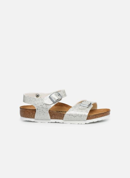 Sandales et nu-pieds Birkenstock Rio Plain Birko Flor Argent vue derrière