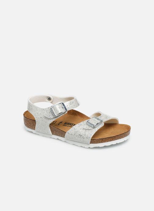 Sandales et nu-pieds Birkenstock Rio Plain Birko Flor Argent vue détail/paire