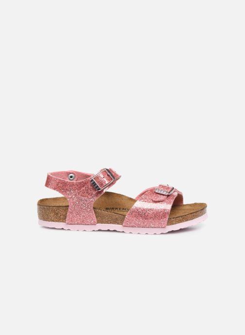 Sandali e scarpe aperte Birkenstock Rio Birko Flor Rosa immagine posteriore
