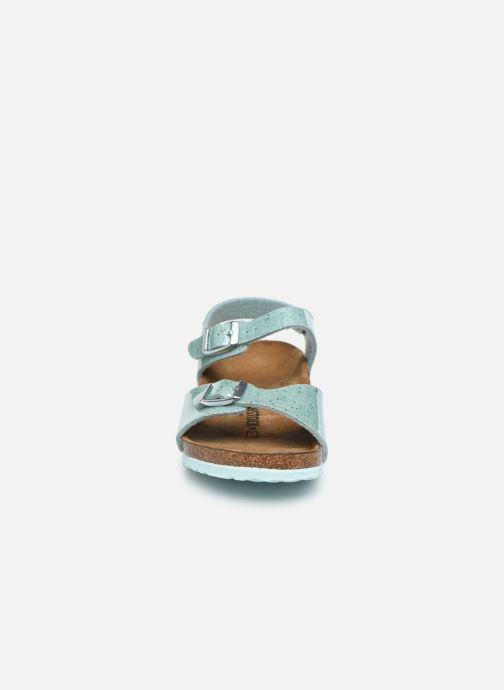 Sandali e scarpe aperte Birkenstock Rio Plain Birko Flor Argento modello indossato