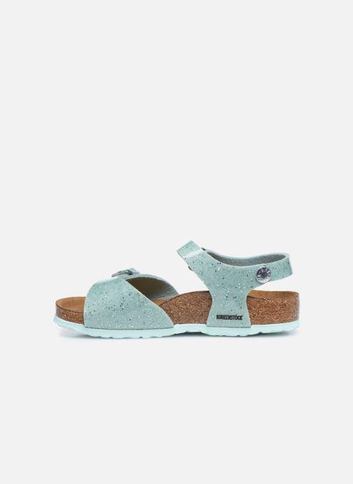 Sandales et nu-pieds Birkenstock Rio Plain Birko Flor Argent vue face