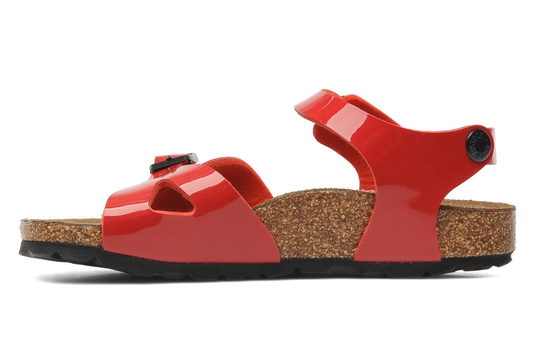 Sandales et nu-pieds Birkenstock Rio Birko Flor Rouge vue face