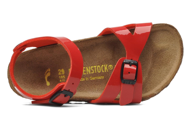 Sandales et nu-pieds Birkenstock Rio Birko Flor Rouge vue gauche