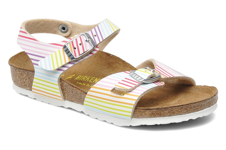 Sandales et nu-pieds Birkenstock Rio Birko Flor Multicolore vue détail/paire