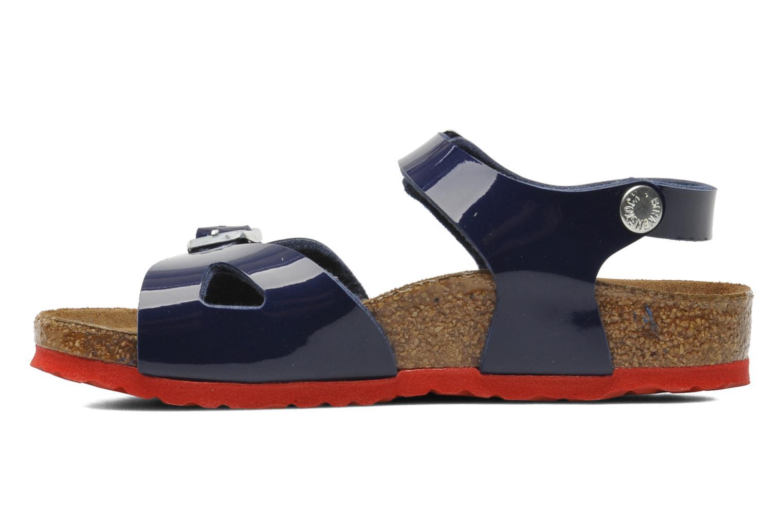 Sandales et nu-pieds Birkenstock Rio Birko Flor Bleu vue face