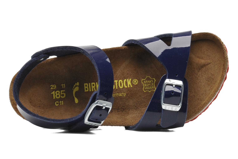 Sandales et nu-pieds Birkenstock Rio Birko Flor Bleu vue gauche