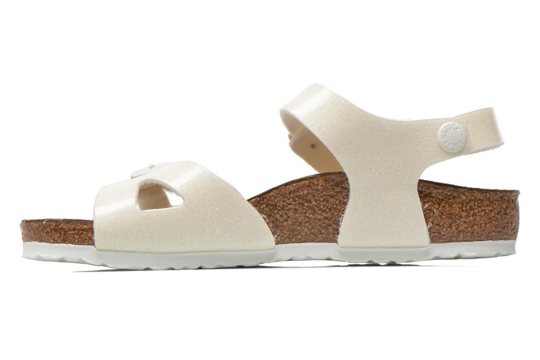 Sandales et nu-pieds Birkenstock Rio Birko Flor Blanc vue face