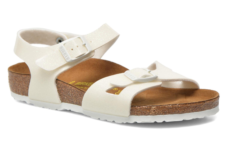 Sandales et nu-pieds Birkenstock Rio Birko Flor Blanc vue détail/paire
