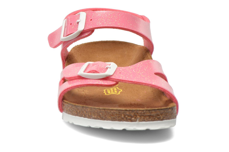 Sandals Birkenstock Rio Birko Flor Pink model view