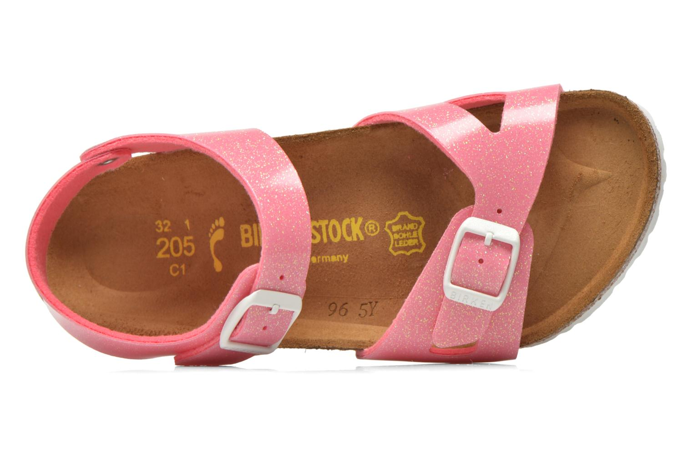 Sandals Birkenstock Rio Birko Flor Pink view from the left