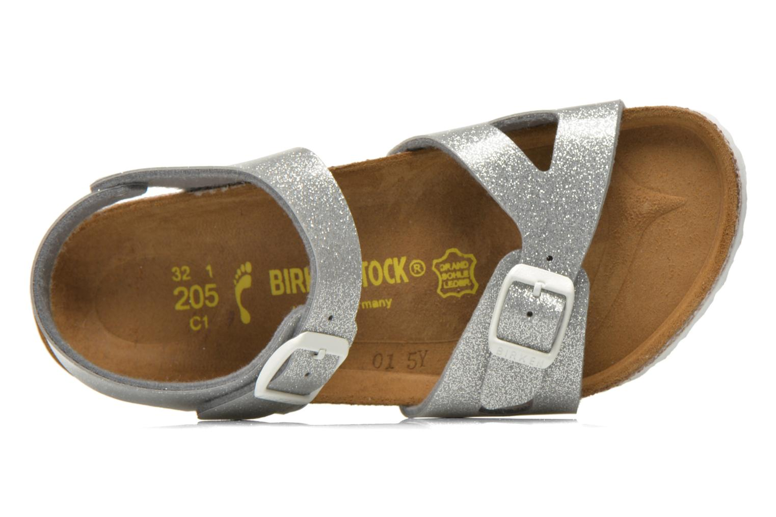 Sandals Birkenstock Rio Birko Flor Silver view from the left