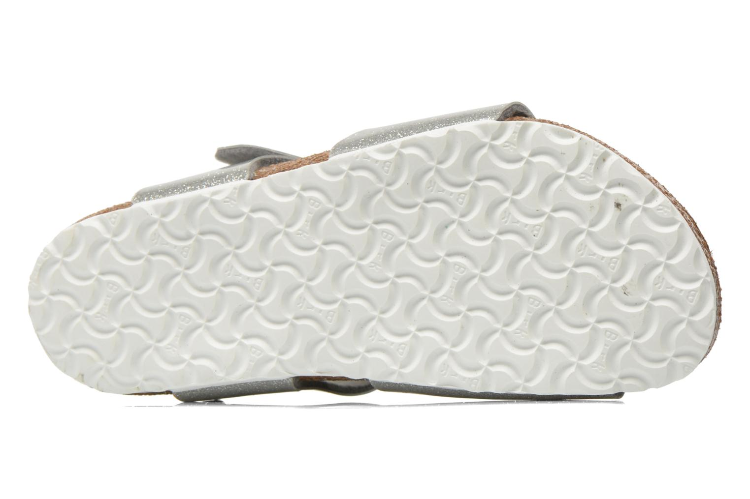 Sandals Birkenstock Rio Birko Flor Silver view from above