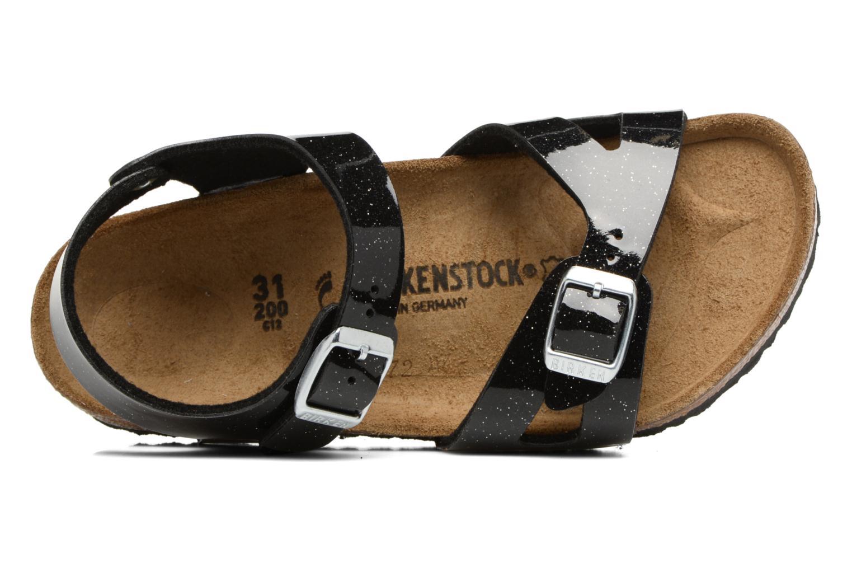 Sandals Birkenstock Rio Birko Flor Black view from the left