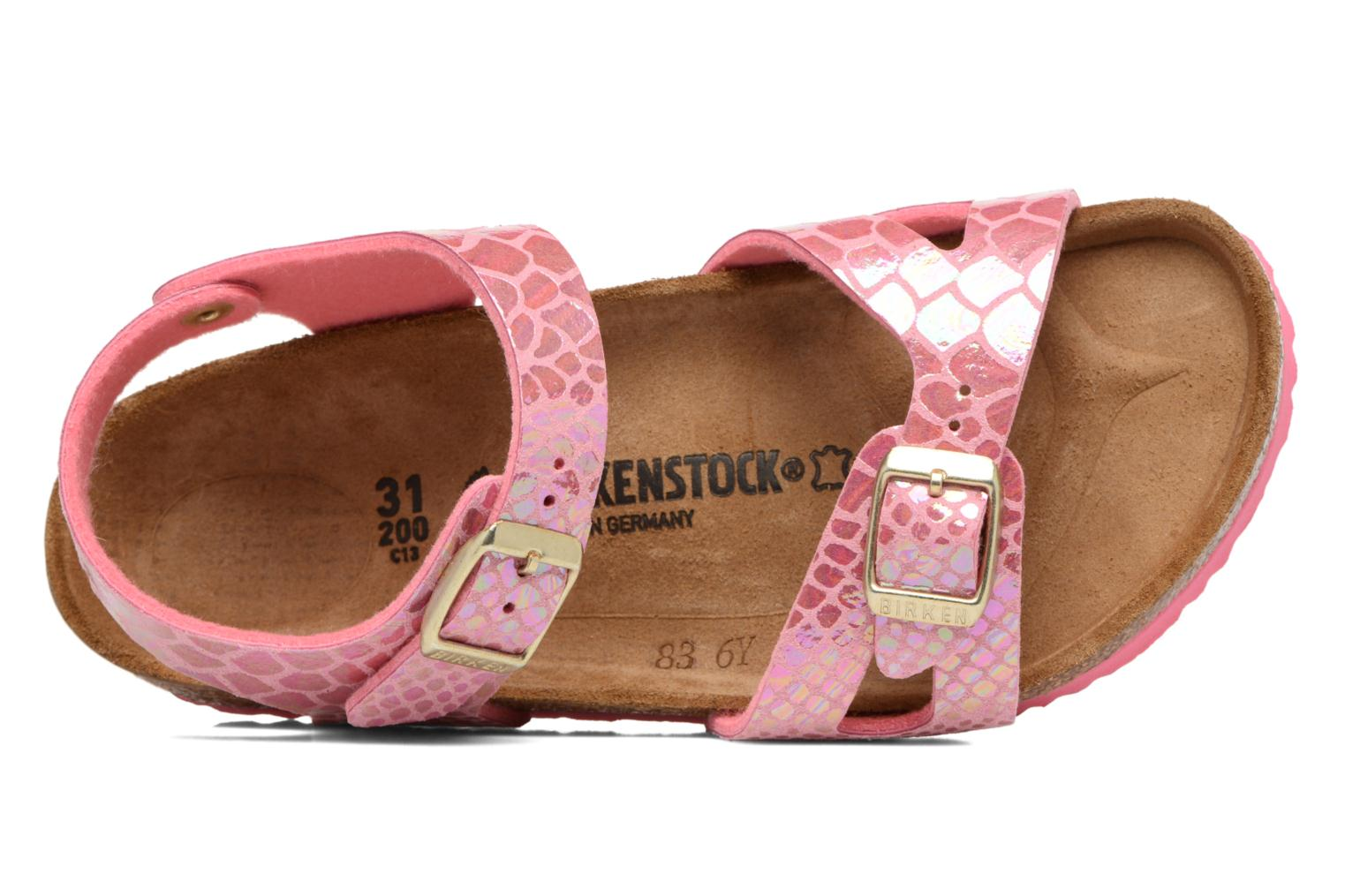 Sandals Birkenstock Rio Birko Flor Pink view from the left