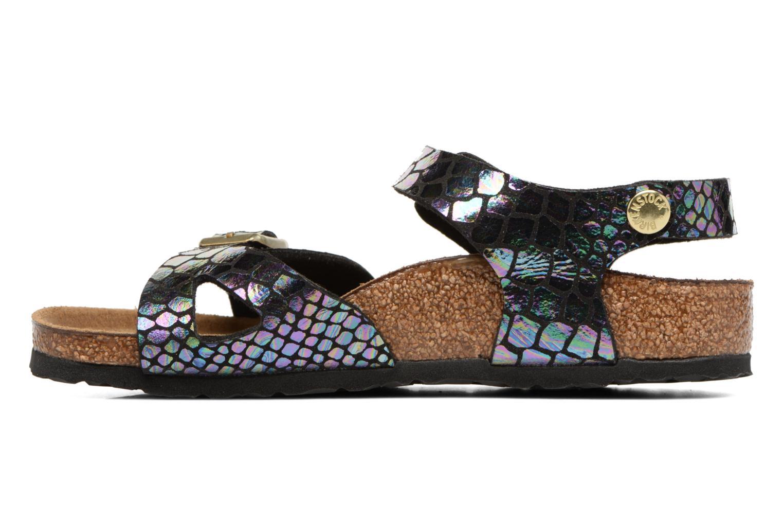 Sandales et nu-pieds Birkenstock Rio Birko Flor Noir vue face