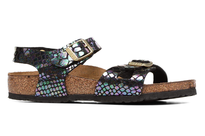 Sandales et nu-pieds Birkenstock Rio Birko Flor Noir vue derrière