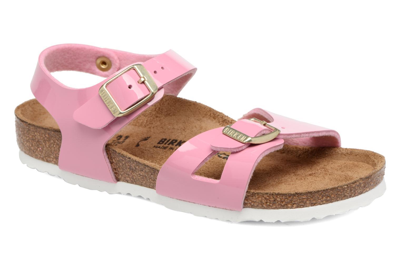 Sandales et nu-pieds Birkenstock Rio Birko Flor Rose vue détail/paire