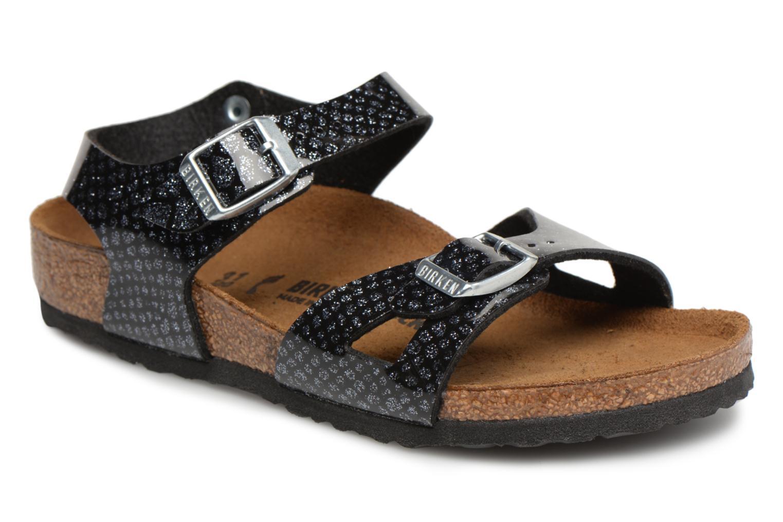 Sandali e scarpe aperte Birkenstock Rio Birko Flor Nero vedi dettaglio paio b53a6cc0ed6