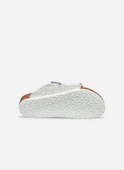 Sandales et nu-pieds Birkenstock ARIZONA Birko-Flor Argent vue haut