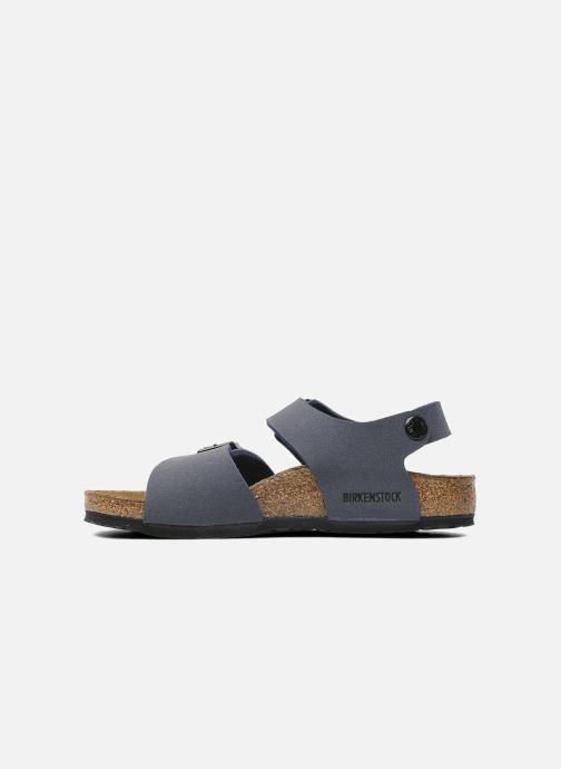 Sandali e scarpe aperte Birkenstock New York Birko Flor Azzurro immagine frontale