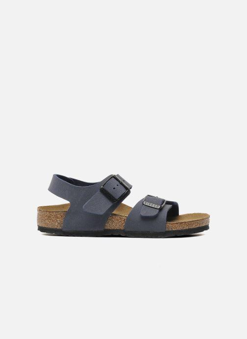 Sandales et nu-pieds Birkenstock New York Birko Flor Bleu vue derrière