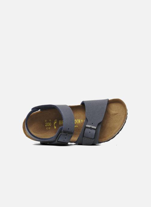 Sandales et nu-pieds Birkenstock New York Birko Flor Bleu vue gauche