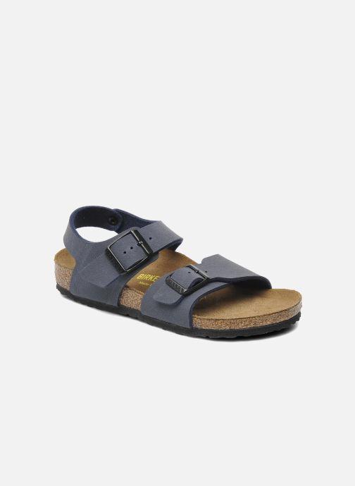 Sandales et nu-pieds Birkenstock New York Birko Flor Bleu vue détail/paire