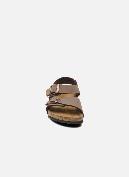 Sandali e scarpe aperte Birkenstock New York Birko Flor Marrone modello indossato
