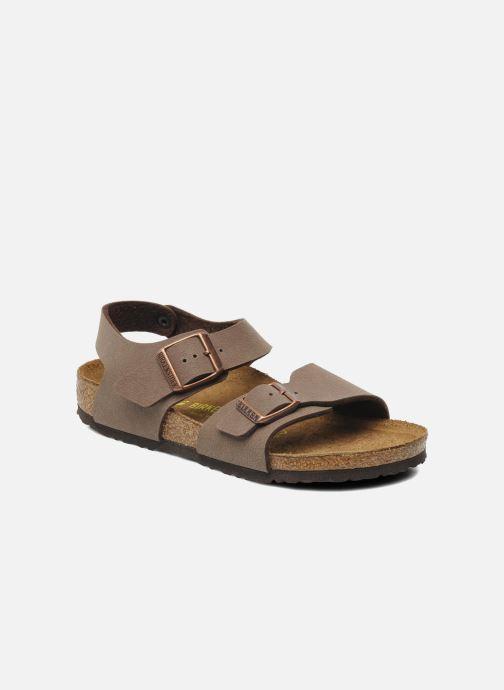 Sandales et nu-pieds Birkenstock New York Birko Flor Marron vue détail/paire