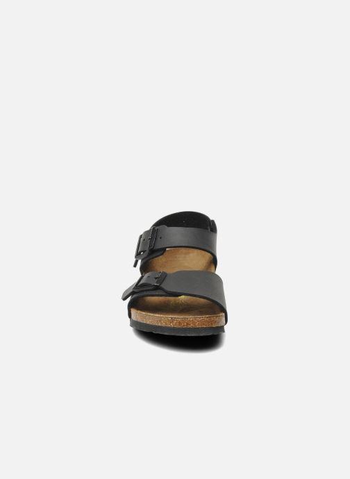 Sandales et nu-pieds Birkenstock New York Birko Flor Noir vue portées chaussures
