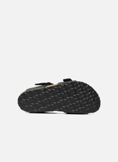 Sandales et nu-pieds Birkenstock New York Birko Flor Noir vue haut