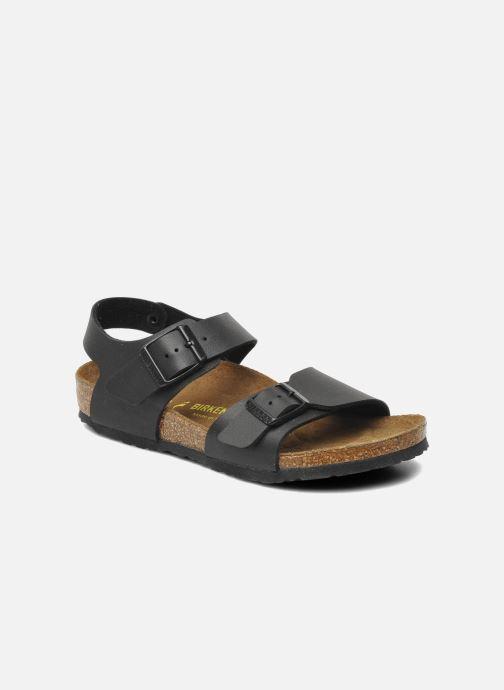 Sandales et nu-pieds Birkenstock New York Birko Flor Noir vue détail/paire
