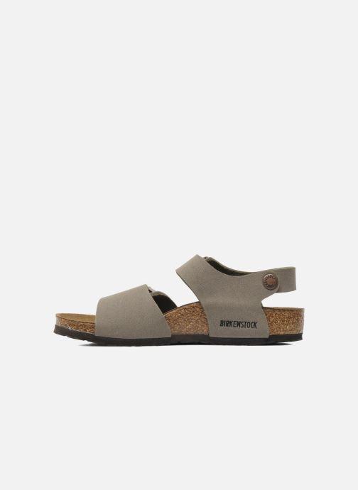 Sandales et nu-pieds Birkenstock New York Birko Flor Gris vue face