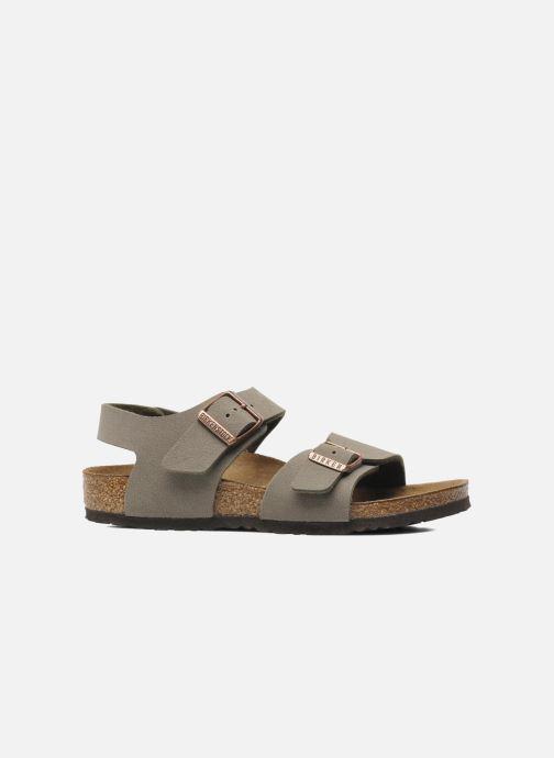 Sandales et nu-pieds Birkenstock New York Birko Flor Gris vue derrière