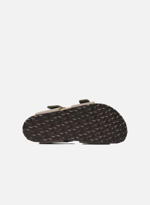 Sandales et nu-pieds Birkenstock New York Birko Flor Gris vue haut
