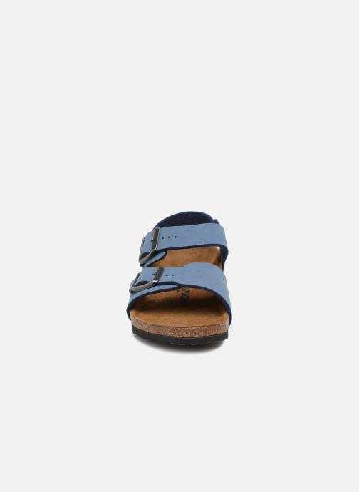 Sandales et nu-pieds Birkenstock New York Birko Flor Bleu vue portées chaussures