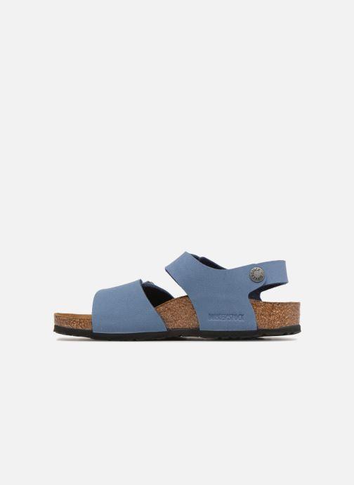 Sandales et nu-pieds Birkenstock New York Birko Flor Bleu vue face