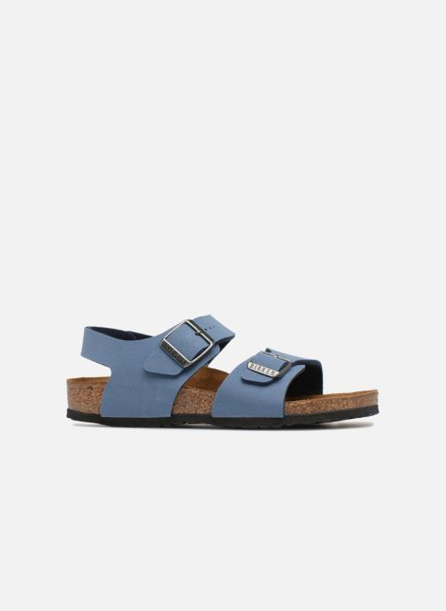 Sandals Birkenstock New York Birko Flor Blue back view