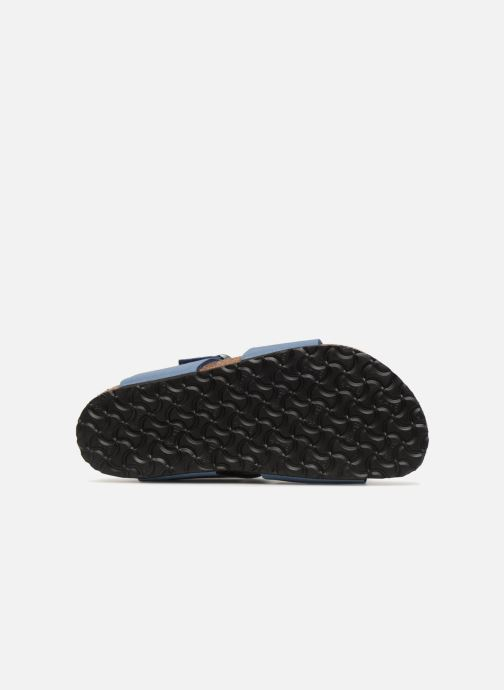 Sandals Birkenstock New York Birko Flor Blue view from above
