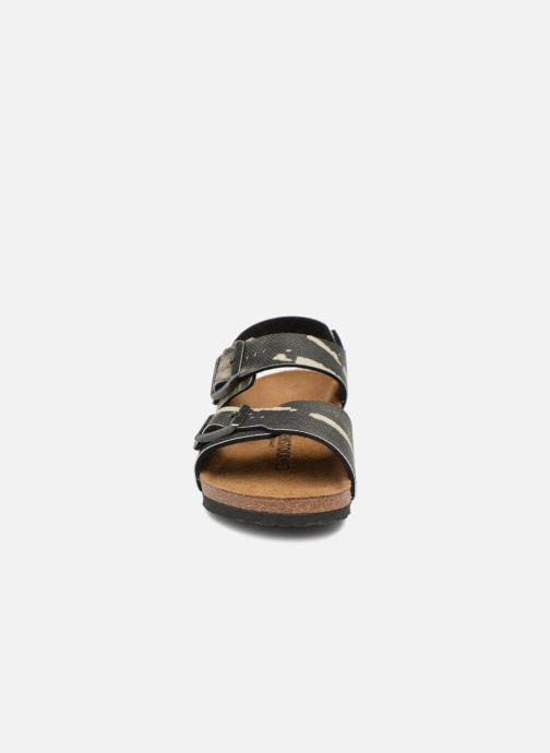 Sandali e scarpe aperte Birkenstock New York Birko Flor Grigio modello indossato